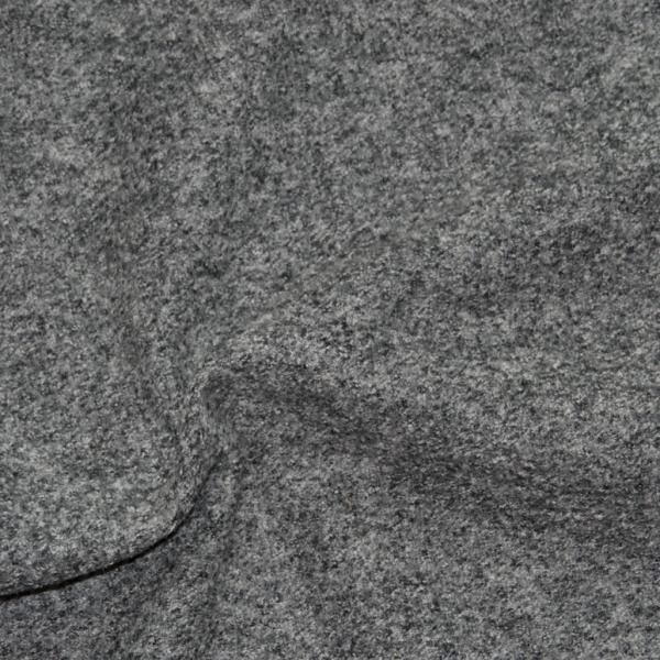 Walkloden, Wolle, grau-schwarz-meliert