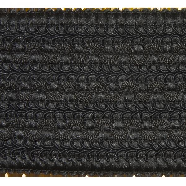 elastische Posamentenborte, schwarz