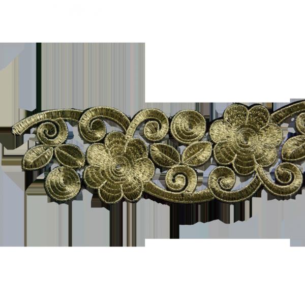Borte zum Aufbügeln, gold, 80 mm