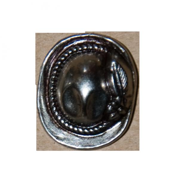 Knopf, Hut, silber, 18 mm