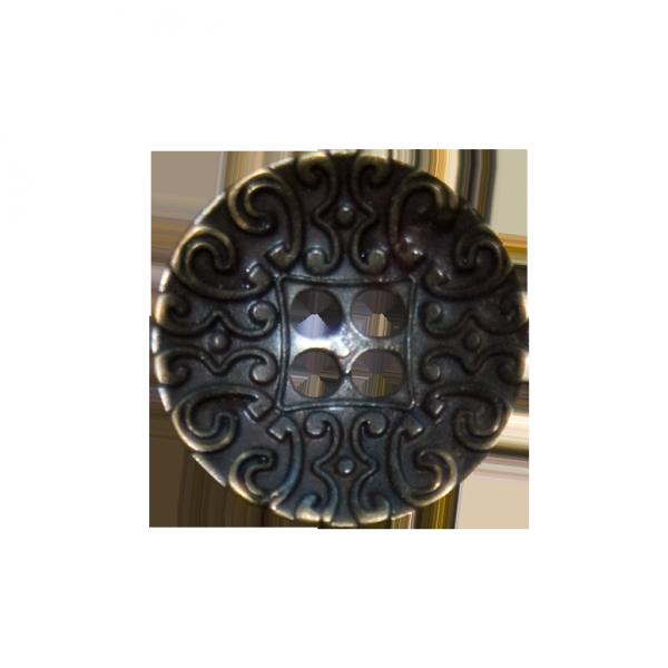 Knopf, 4-Loch, Ranken, gold, 20 mm