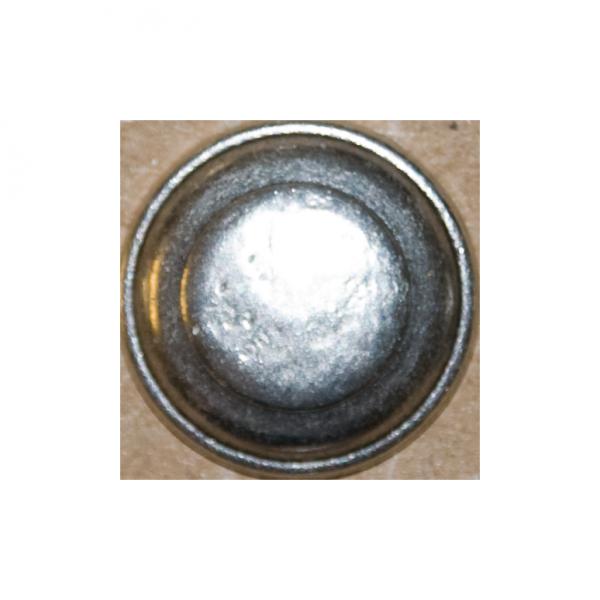 Knopf, gehämmert, altsilber, 18 mm