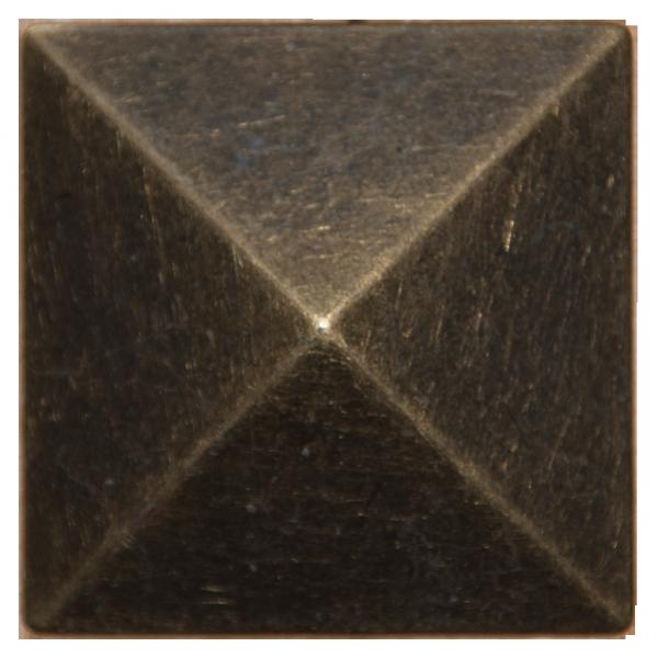 extra große Pyramiden Zierniete in altgold