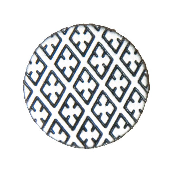 Knopf, Kreuze, silber, 20 mm
