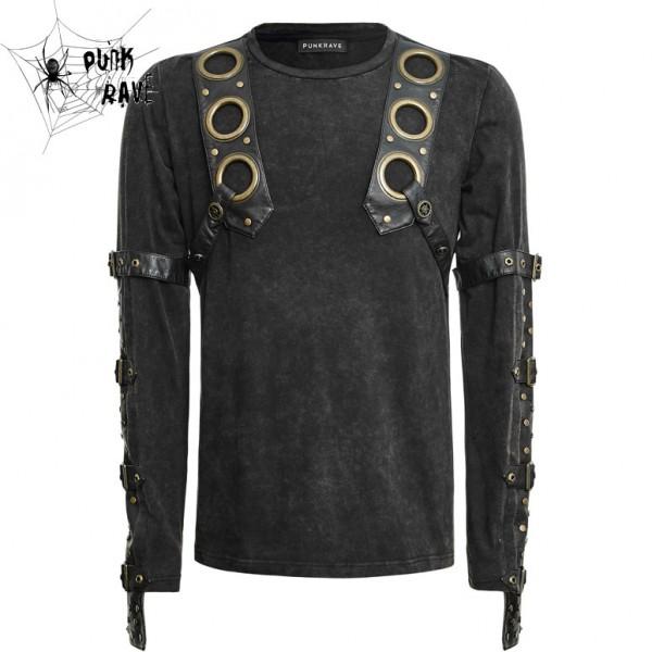Steampunk Longsleeve Langarmshirt vorn