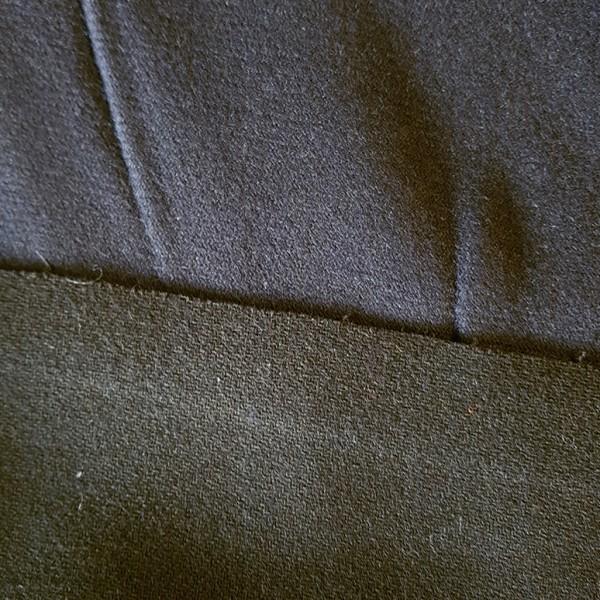 Wollstoff, Doppelgewebe, nachtlbau/schwarz