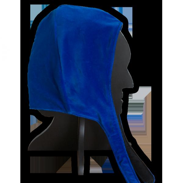 Bundhaube Samt, blau
