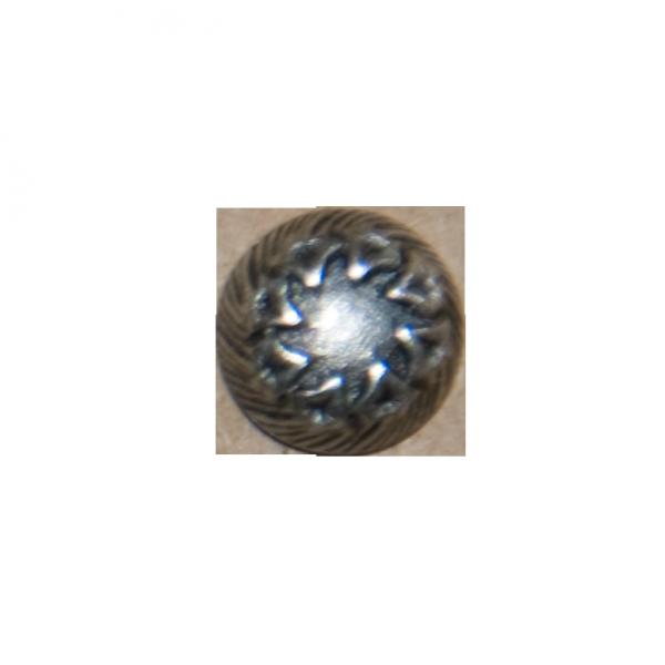 Knopf, rund, Manchetten, altsilber, 10 mm
