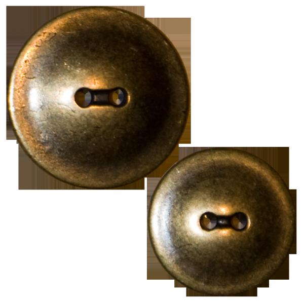 Knopf, 2-Loch, gold, flach
