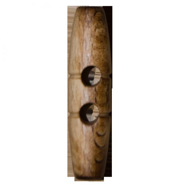 Knopf, echt Holz, Knebel, 50 mm