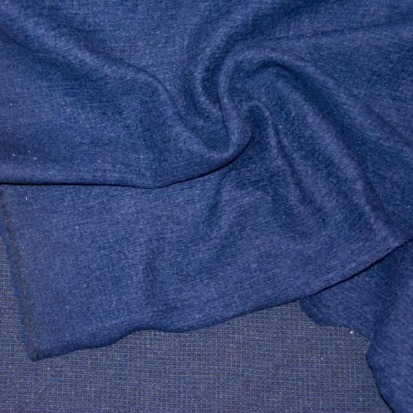 schwerer, melierter Walk-Strick, nachtblau