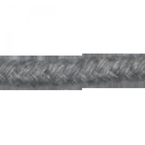 Kordel, Baumwolle, 5 mm, grau