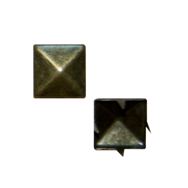 Zierniete mit Krampen, gold, 10 mm