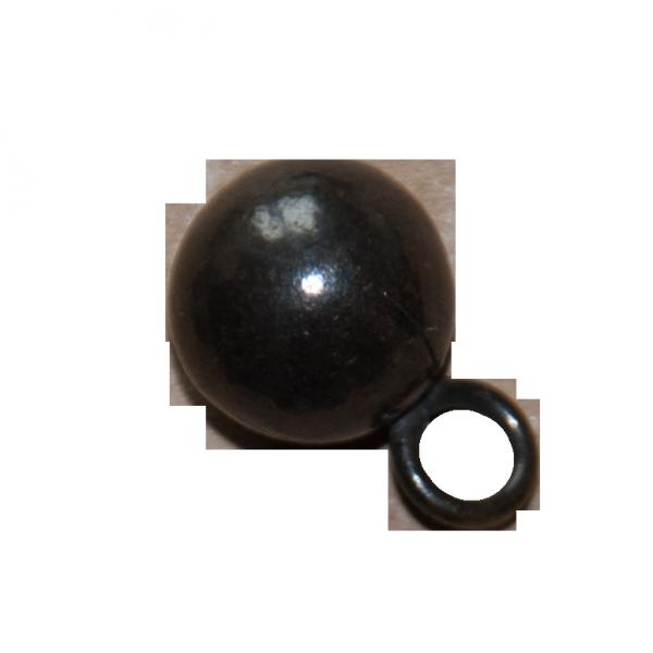 Kleiner Kugelknopf aus Metall in gold anthrazit