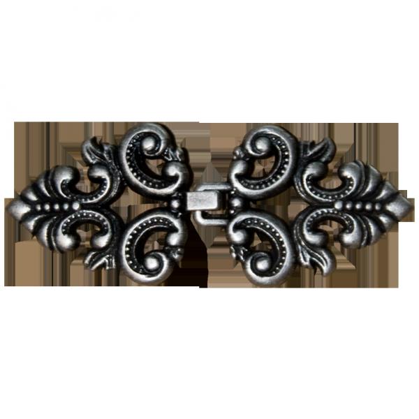 Zierschließe, Ornament, silber