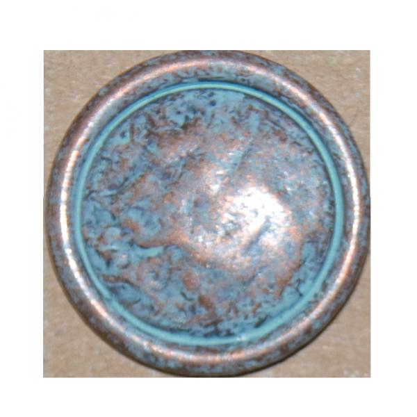 Knopf Patina, kupfer, 23 mm