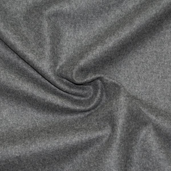 -Reststück- Loden, Wolle, anthrazit, 160 cm lang