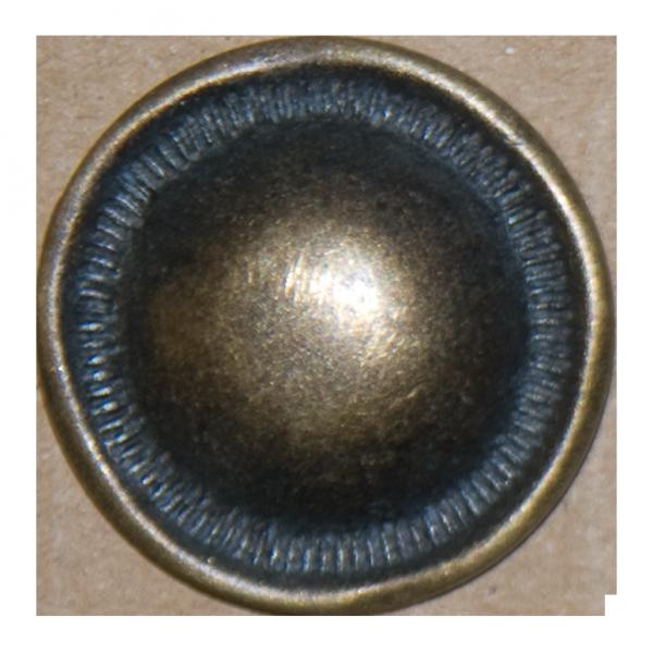Knopf Pilz, altgold, 25 mm