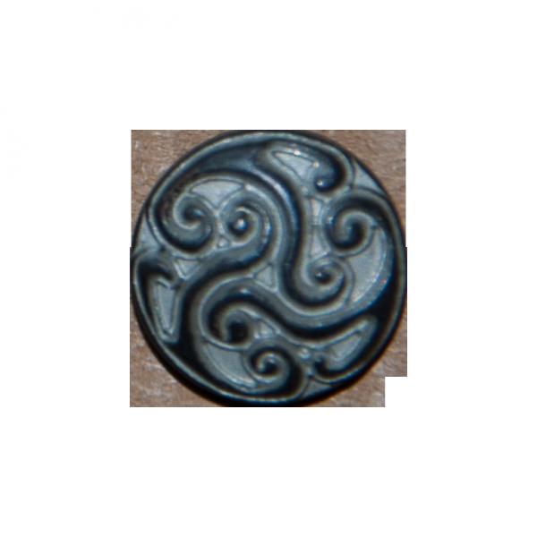 graphite-silberne Zierniete mit Triskele