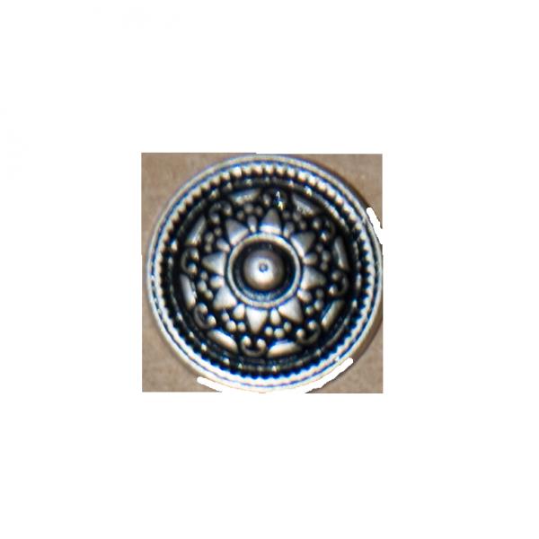 Knopf, Ornament, silber, 12 mm