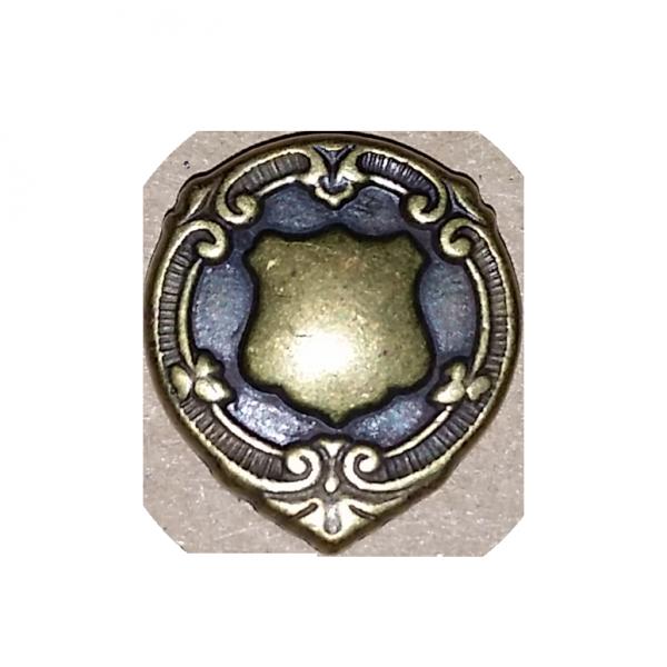 Patentknopf, Wappen, altgold, 18 mm