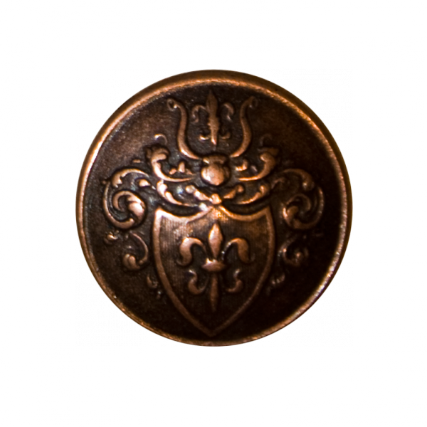 Knopf, Wappen Lilie, bronze