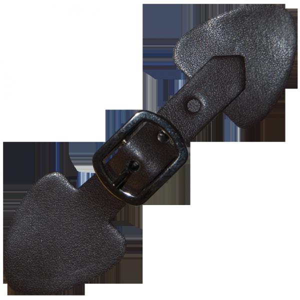 Lederschnalle aus Lederimitat, dunkelbraun, 14 cm