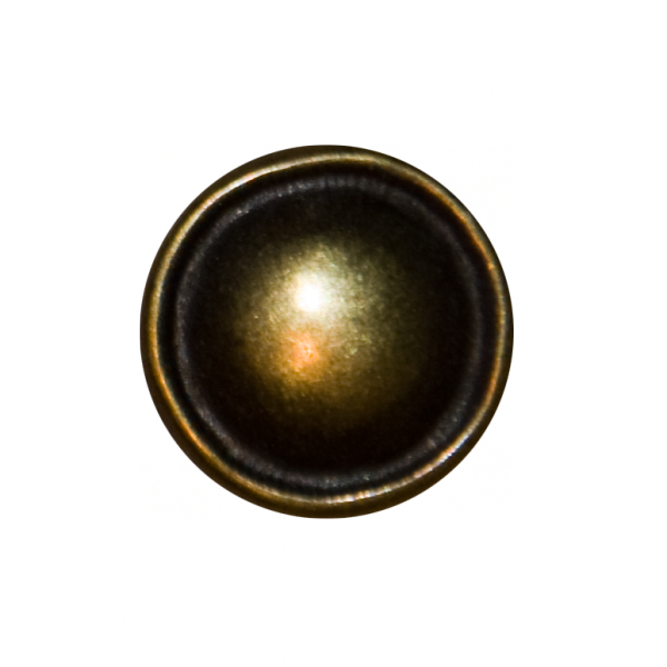 Knopf, Ösenknopf, gold, 15 mm