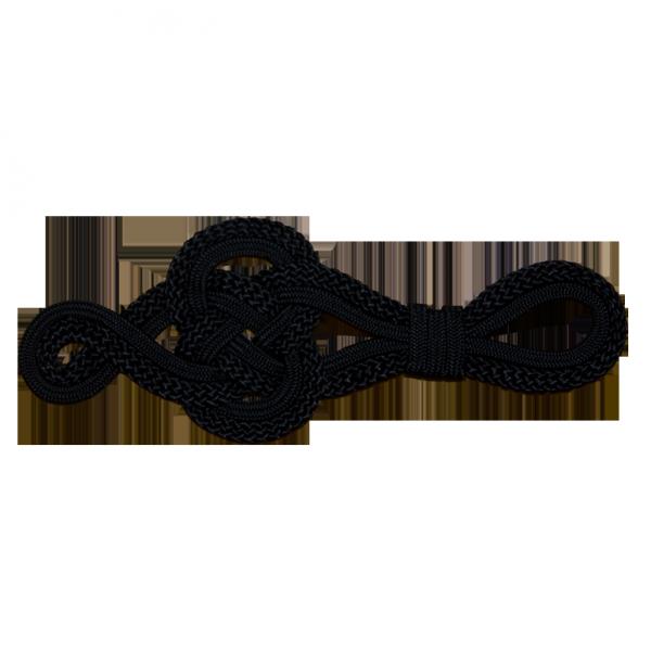 große Posamentenapplikation, schwarz