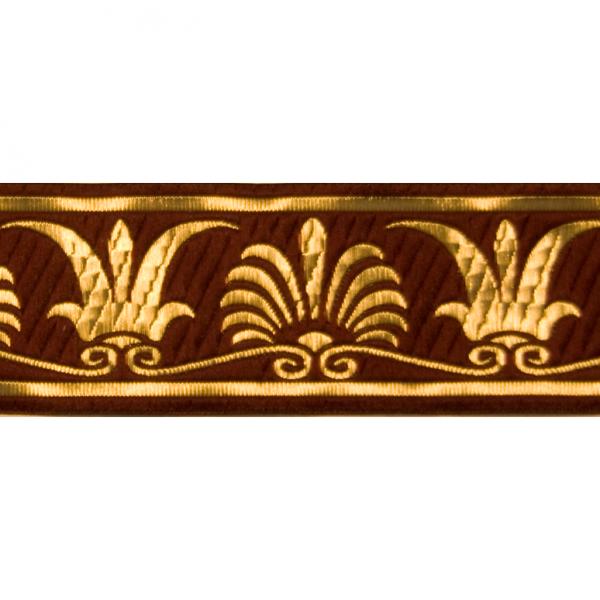 Zierborte, Palme, 50 mm, bordeaux-gold