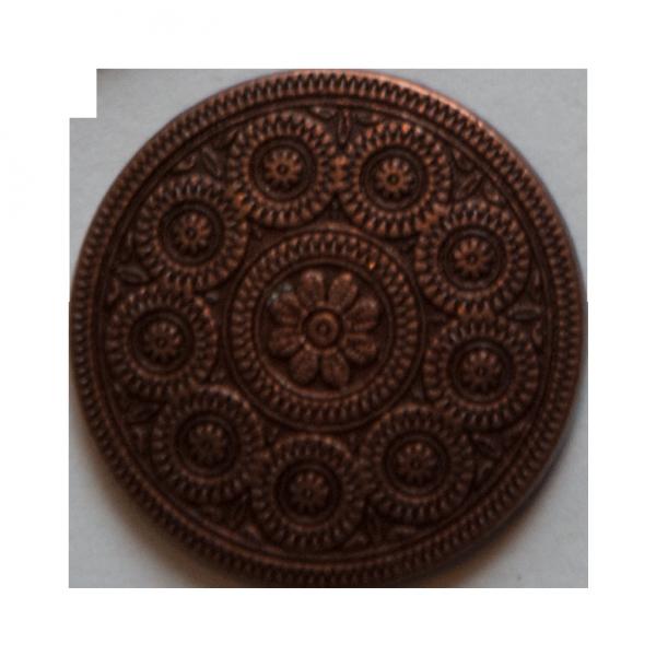 Bronzefarbener Ösenknopf mit Kreisverzierung