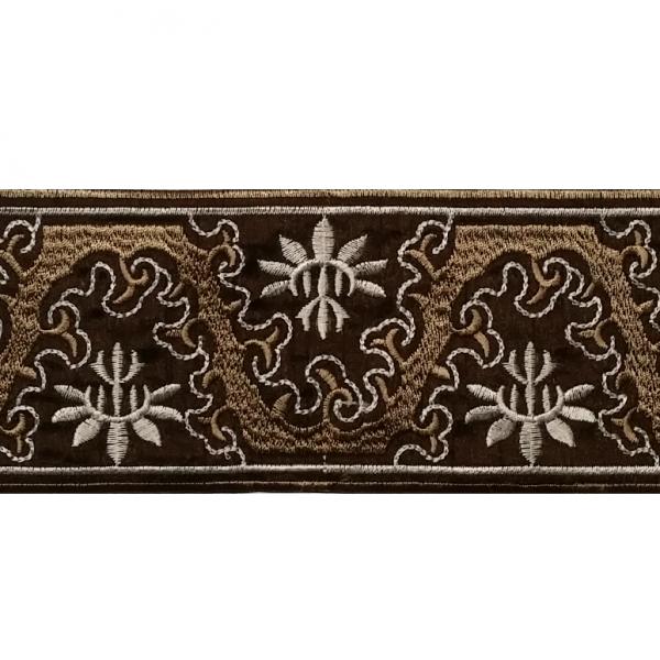 Zierborte Ranke, 80 mm, dunkelbraun-beige