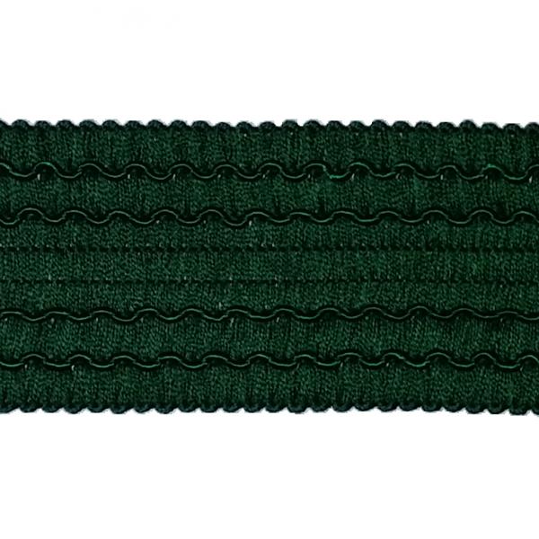 Einfassband Posamentenborte grün, 45 mm
