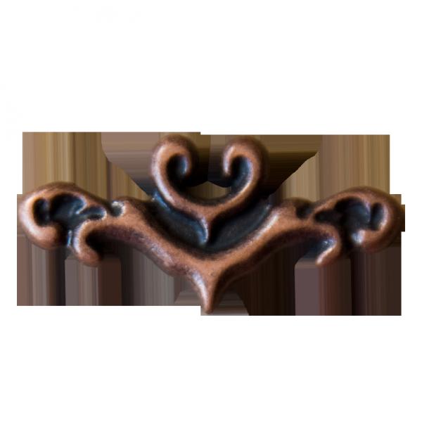 kleine bronzefarbene Zierniete mit Ornament