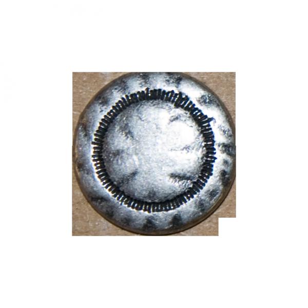 Knopf Hammerschlag, silber, 15 mm