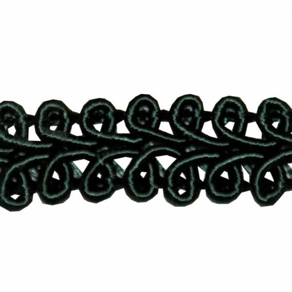 Posamentenborte, dunkelgrün