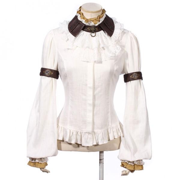 Bluse White Lion von RQ-BL vorn